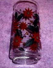 "REPLACEMENT  Vintage Holly Wreath Drinking Tumbler/Glasses 5 3/4"" TALL"