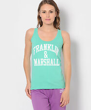 Franklin & Marshall Made in Italy Top T-shirt Tank Maglietta Canotta Donna M