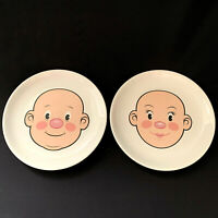 Fred And Friends Plays With His Food Set Of 2 Plates Food Face Boy And Girl