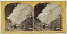 Galerie de la Route de la Via Mala Suisse Photo W. England Vintage Stereo c1865