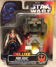 Star Wars Han Solo Smuggler Flight Pack Rebel Alliance Blaster Cannons POTF