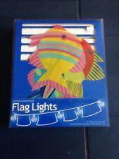 NEW BOSTON WAREHOUSE ISLAND TROPICAL FISH 9' FLAG LIGHT SET RETAIL$29.99