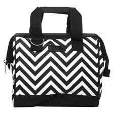 NEW Sachi Insulated Lunch Bag Chevron Black