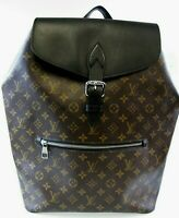 Louis Vuitton Backpack Macassar Palk Large Bag Monogram Canvas & Black Leather