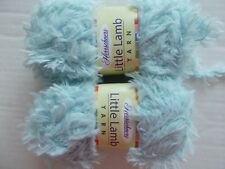 Herrschners Little Lamb soft and fuzzy yarn, Cloudless, lot of 2 (98 yds each)