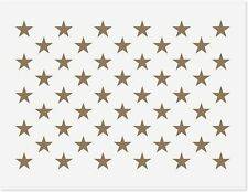 Us Star Pattern Stencil 50 Star Flag 10.5x15 Painting Wood Wall Art Reusable New