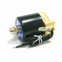 "110V AC 2W-025-06 2 Way Brass Air Gas Water Solenoid Valve 1/8 ""BSP Normal Close"