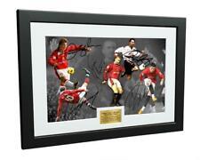 Signed Beckham Giggs Cantona Rooney Ronaldo Manchester United Photo Picture Gift