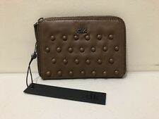 """Elk Leather Wallet Purse Womens ~ New w/ Tags ~ """" Sable Stud Purse """" Zippered"""