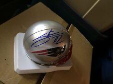 Patriots Stevan Ridley Mini Helmet Autographed