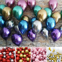 "10pc 12"" Glossy Thick Metal Latex Balloons Wedding Balloon Birthday Party Decor"
