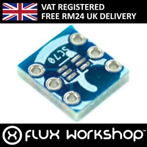 5pcs SOT23 SC70 Chipset Breakout Adapter Board 2.54mm Prototype Flux Workshop