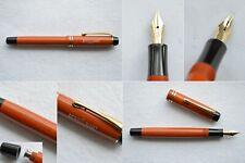 Montblanc Masterpiece Simplo Coral Red Gold Fountain Pen Full Flex EF-BB 14C Nib