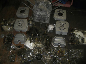 MOTO GUZZI IMOLA II ENGINE - BLASTED - IN PIECES - MANY OTHER SPARES
