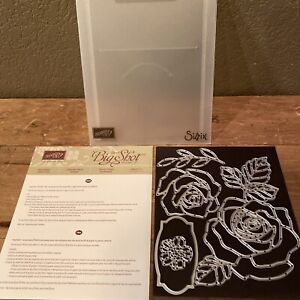 Stampin Up ROSE GARDEN Thinlits Dies Flowers Floral Leaves Large Rose 140619