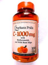 Vitamin C 1000Mg W/ Bioflavonoids & Wild Rose HIps 100 Vegetarian Pills Caplets