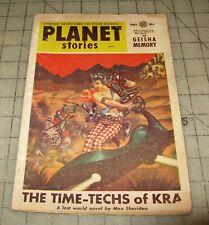 PLANET STORIES Vol VI #8 (Fall 1954) Pulp, SciFi MAGAZINE, Parkhurst Cover ??