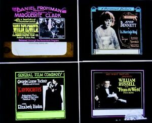 Four Early Glass Movie Slides (Group 8)