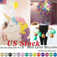 20/50/100/200 Pcs 5'' Mini Latex Balloon Round Birthday Party Balloons Festival
