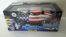 Muscle Machines 1:18 '57 Chevy RED White & Blue /Stars & Stripes