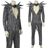 The Nightmare Before Christmas Jack Skellington Cosplay Costume Fancy Dress