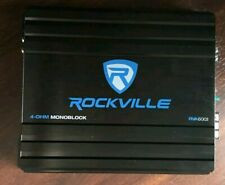 Rockville RVA600.1 1200w Peak Mono Amplifier 200w  Compliant ( cords not include