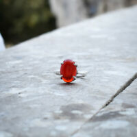 Unbelievable Red Onyx Gemstone 925 Sterling Silver Handmade Ring All Size