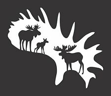 Moose Antler Hunting #401 - Die Cut Vinyl Window Decal/Sticker for Car/Truck