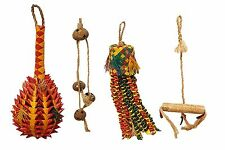 BIRD TOY PACKAGE Abaca Swing Natural Parrot Shredding Palm Coconut