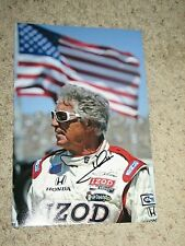 MARIO ANDRETTI SIGNED INDY CAR DRIVER 8x12 PHOTO coa indy 500 winner 5