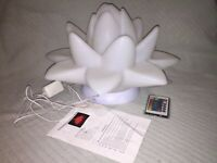 Waterproof LED Glow Lotus Color Changing Floating Light with Remote Control
