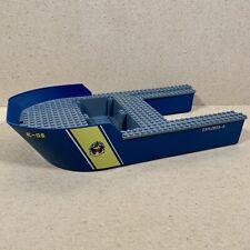 Lego Boat Hull Giant Bow Explorer-6 40x20x7 Set 60095 Part 18913c01pb01 Blue