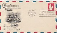 United States 1956 Airmail Fipex 5th Int Philatelic Exh.Stamps Cover ref 22226
