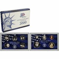 2000-S Proof Set United States US Mint Original Government Packaging Box & COA