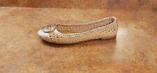 New! Tory Burch 'Chelsea' Woven Metallic Ballet Flat Womens Size 9.5 M MSRP $298