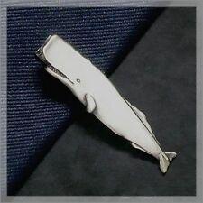 Ishokuya Unique Tie Clasps & Tacks Ocean Series Sperm Whale Tie Clip/Pin/Bar