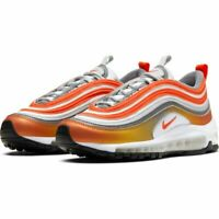 NIKE KIDS WOMENS AIR MAX 97 - UK 3/US 3.5/EUR 35.5 - ORANGE/WHITE (CT9637-900)