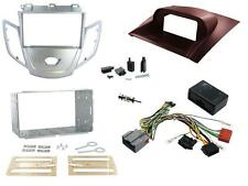 Connects2 Ford Fiesta Mk7 08-10 Double Din Stereo Fitting Kit Silver / Red