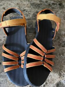 Teva Kayenta Womens 6310 Black Orange Strappy Ankle Sport Sandals Size 6 (799)