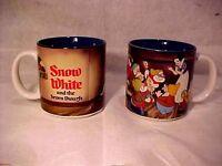 2 WALT DISNEY - SNOW WHITE & THE SEVEN DWARFS COFFEE CUPS - MUGS - MADE IN JAPAN