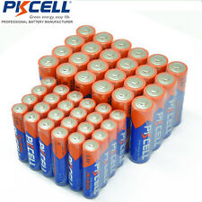 48 piece PKCELL 24 AA + 24 AAA Alkaline Batteries Bulk Lot EXP.2026 Over 1000mAH