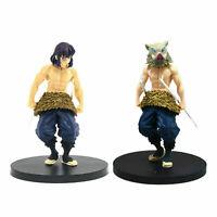 """New 2 Pcs/Set Demon Slayer Kimetsu no Yaiba Inosuke Hashibira 5.5"""" Figure Toys"""