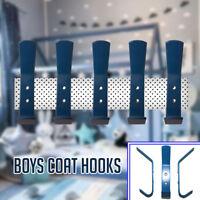 New Boys Blue Coat Hooks Door Wall Hooks Baby Nursery or Kids Bedroom