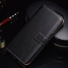 Case for iPhone XR,XS,XS MAX Genuine LEATHER Magnetic Flip BLACK Wallet Cover