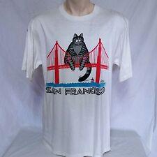 VTG B Kliban Cat T Shirt San Francisco 80s Crazy Shirts 90s Double Sided XL