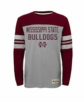 NCAA Mississippi State Bulldogs Boys Legacy Long Sleeve Crew Tee, Youth L 12-14