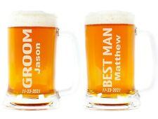 Groomsmen Beer Mug, Personalized Wedding Glass, Beer Glass for Best Man, Groom