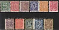 Stamp Germany Official Mi 023-33  Sc O1-13 1920 Dienst Deutsches Reich Empire MH