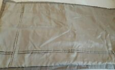 """2 King Pillow Shams  36"""" X 20"""" Taupe Color Polyester with the Look of Silk MINT"""