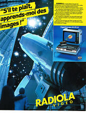 PUBLICITE ADVERTISING 114  1982  RADIOLA VIDEO   magnétoscope  20VR22